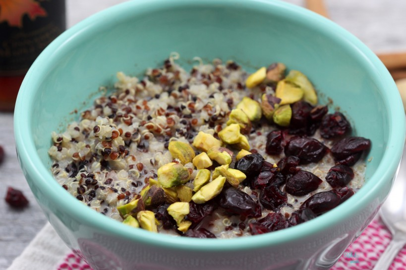 Cranberry Pistachio Quinoa Breakfast Bowl