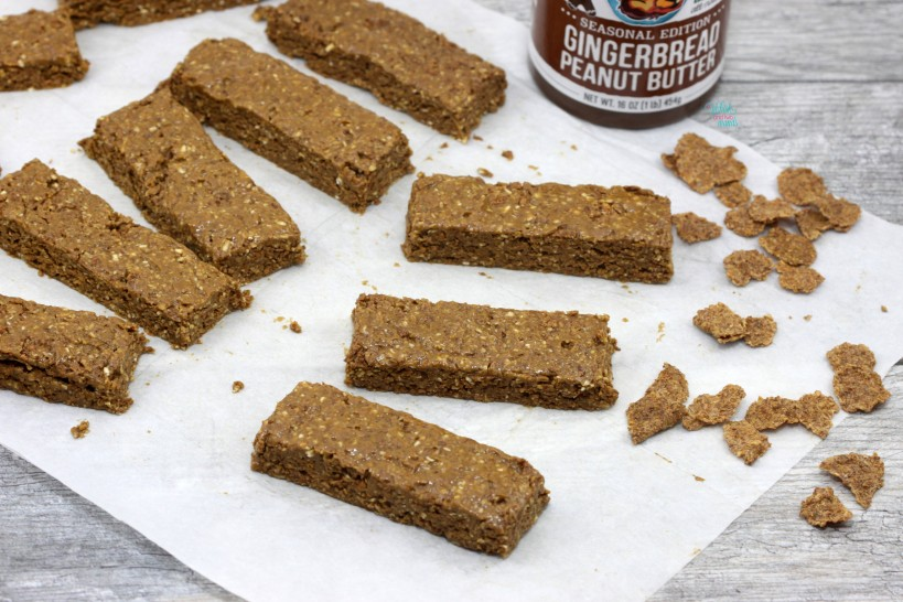 No Bake Gingerbread Protein Cereal Bars