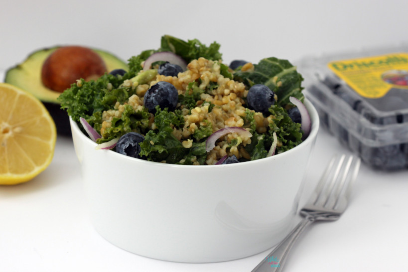 Blueberry Kale Freekeh Salad