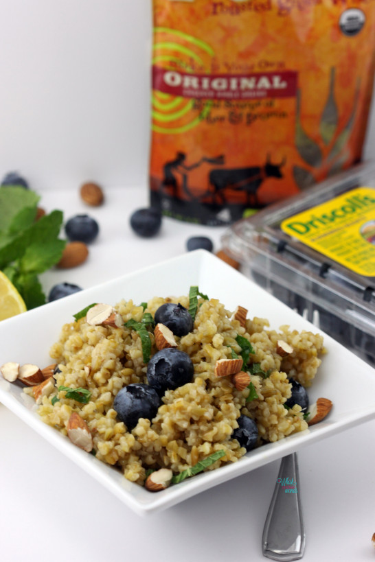 Blueberry Mint Freekeh