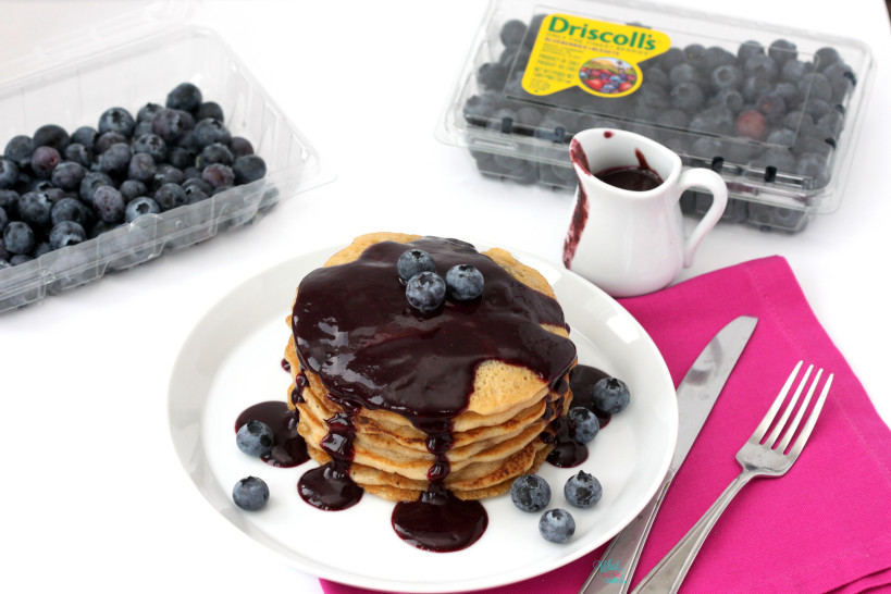 Blueberry Pancakes (gluten free, vegan)