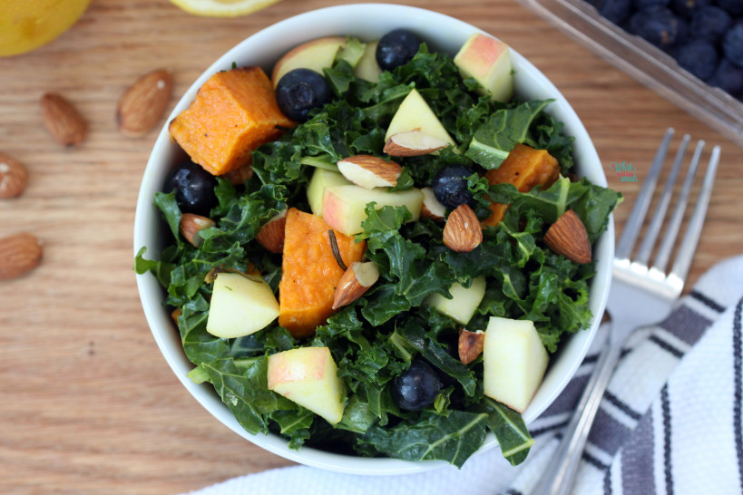Genie In A Bowl Salad with Herb Roasted Sweet Potatoes