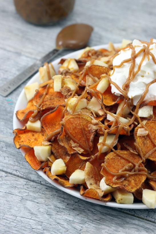 Loaded Elvis Sweet Potato Chips (vegan , gf)