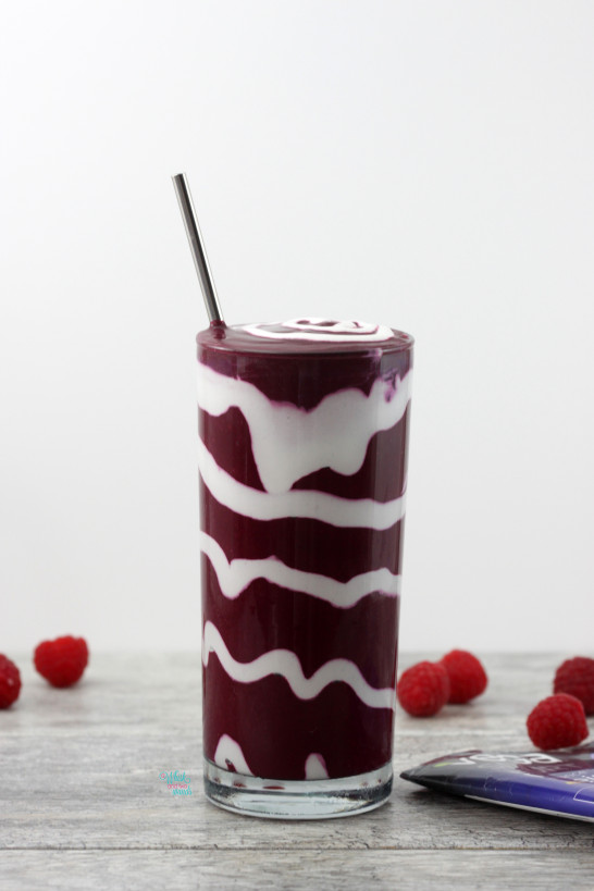 Red Velvet Swirled Protein Smoothie
