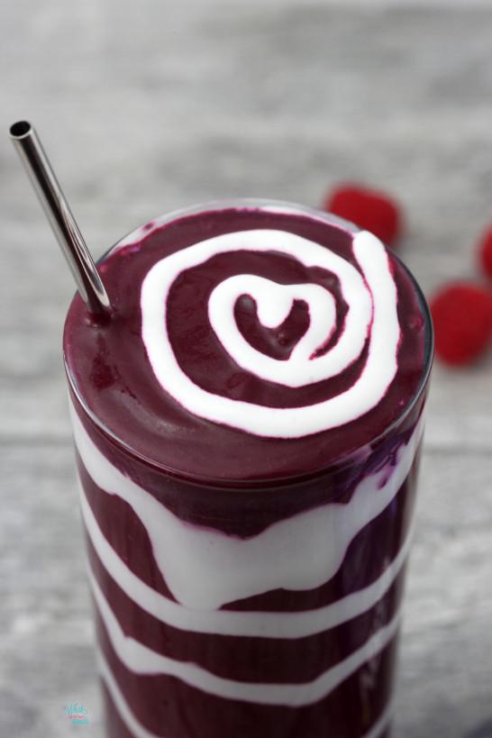 Red Velvet Swirled Protein Smoothie