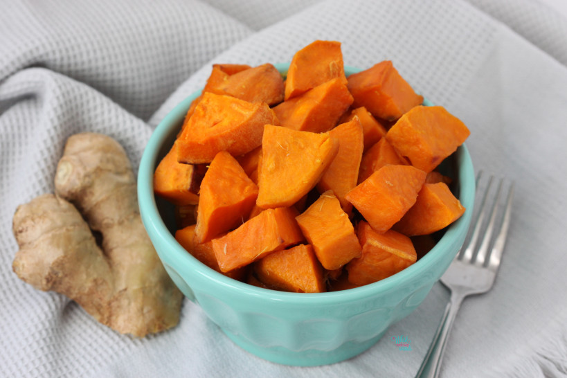Ginger Roasted Sweet Potatoes