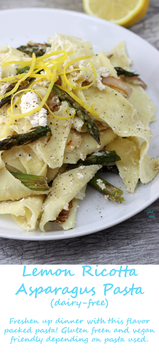 Lemon Asparagus Pasta Delicious flavor packed pasta that is dairy free and depending on pasta used gluten free and vegan.