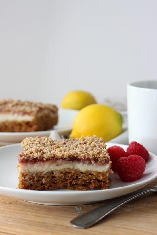 Lemon Raspberry Coffee Cake (vegan and gluten free)