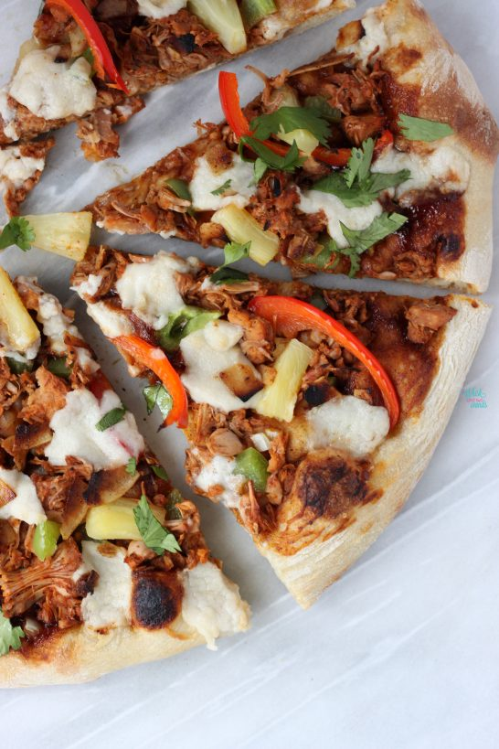 Vegan BBQ Pulled Pulled Pork Pizza