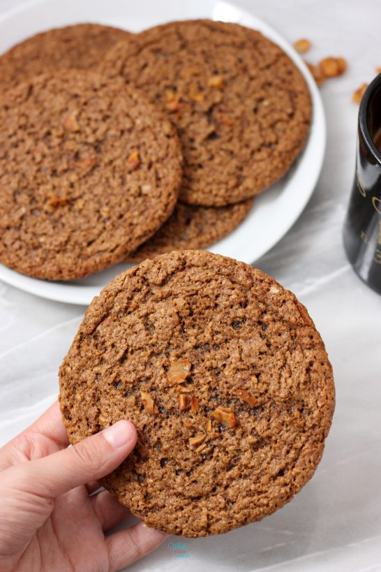 Caramel Coconut Espresso Almond Butter Cookies