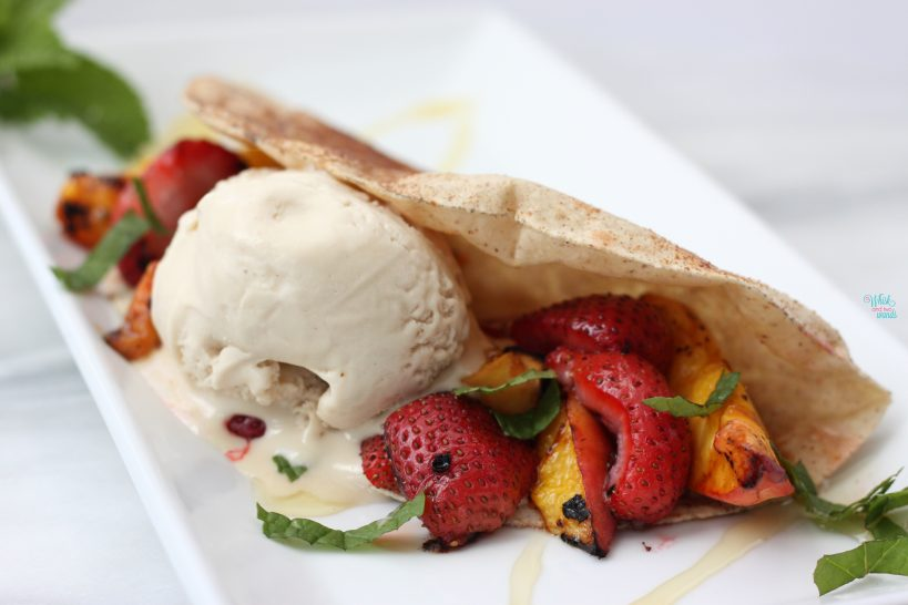 Grilled Fruit Dessert Tacos (dairy free, vegan, gluten free friendly)