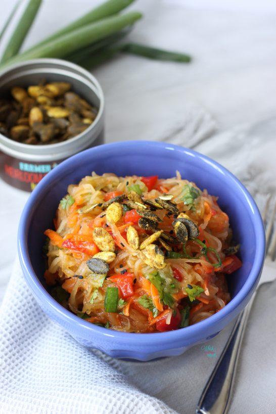 Spaghetti Squash Thai Salad (vegan, gluten free)