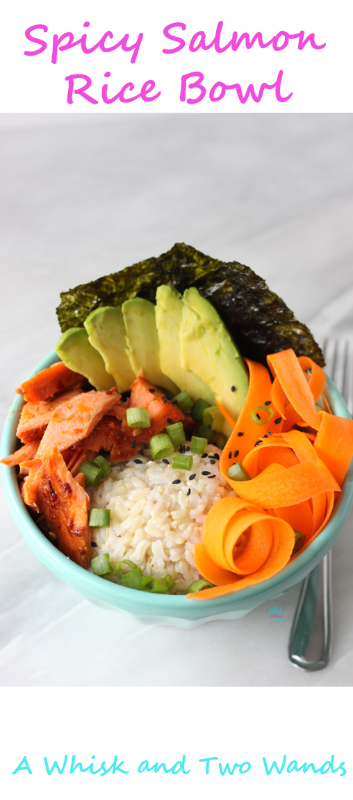 Spicy Salmon Rice Bowl Pin