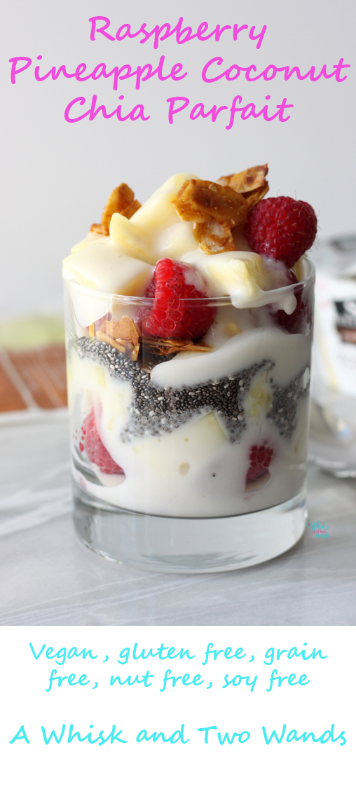 Raspberry Pineapple Coconut Chia Parfait
