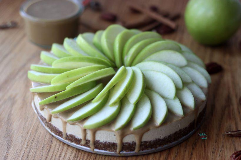Caramel Apple Cheesecake (vegan and gluten free)