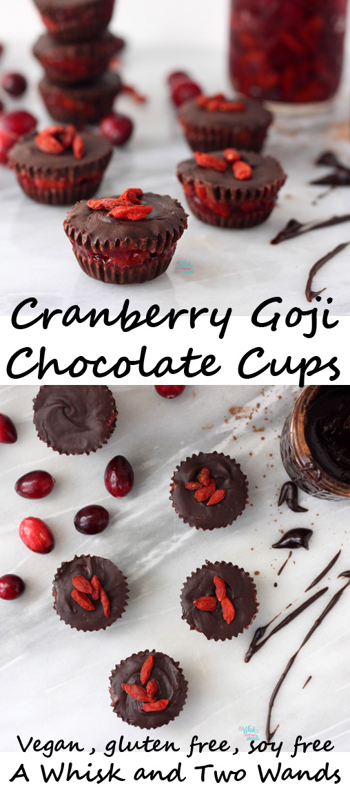 A Whisk and Two Wands Cranberry Goji Chocolate Cups