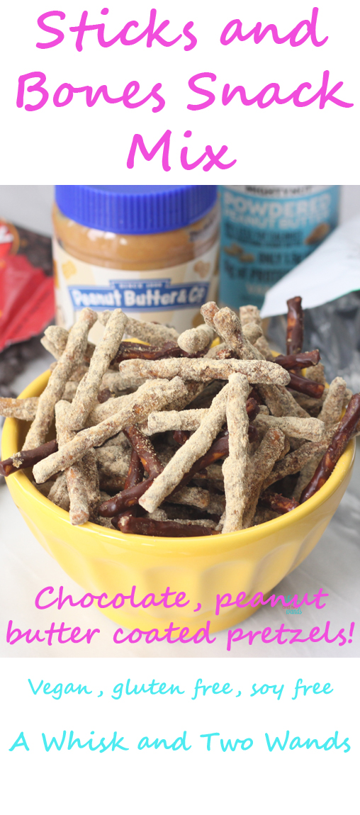 Fun twist on a classic with these chocolate and peanut butter coated pretzels! More protein and less sugar this combo still hits the spot and is perfect for your Halloween Party. Despite the name it makes a great snack anytime of year.