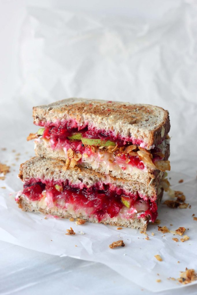 Cranberry Pear Grilled Cheese Sandwich (vegan)