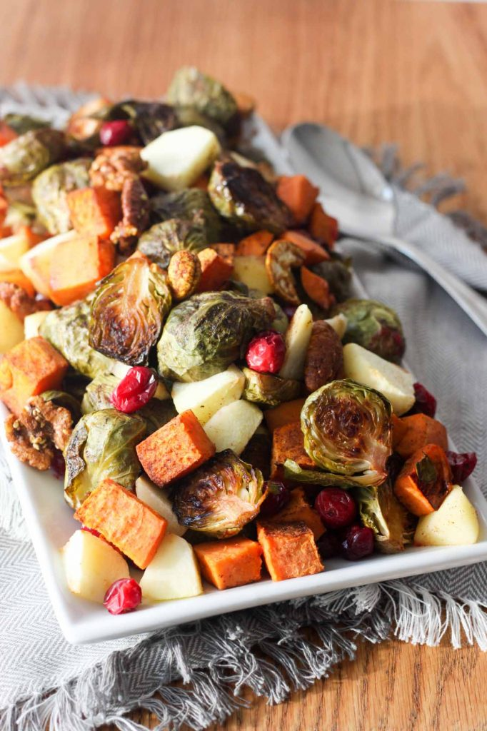Roasted Fall Vegetables with Apples and Cranberries