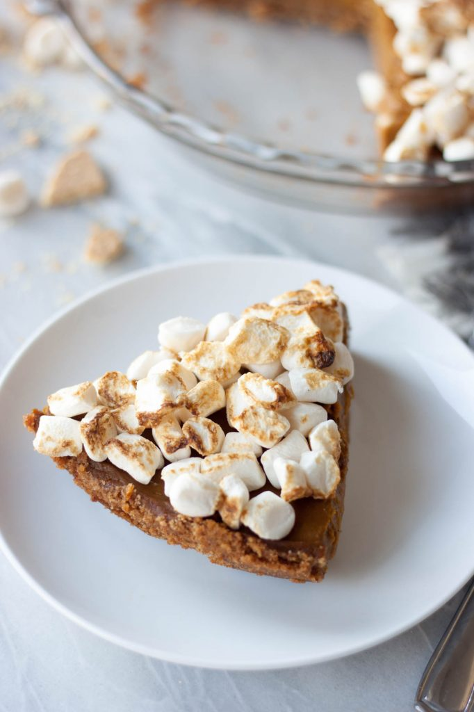 Toasted Marshmallow Sweet Potato Pumpkin Pie