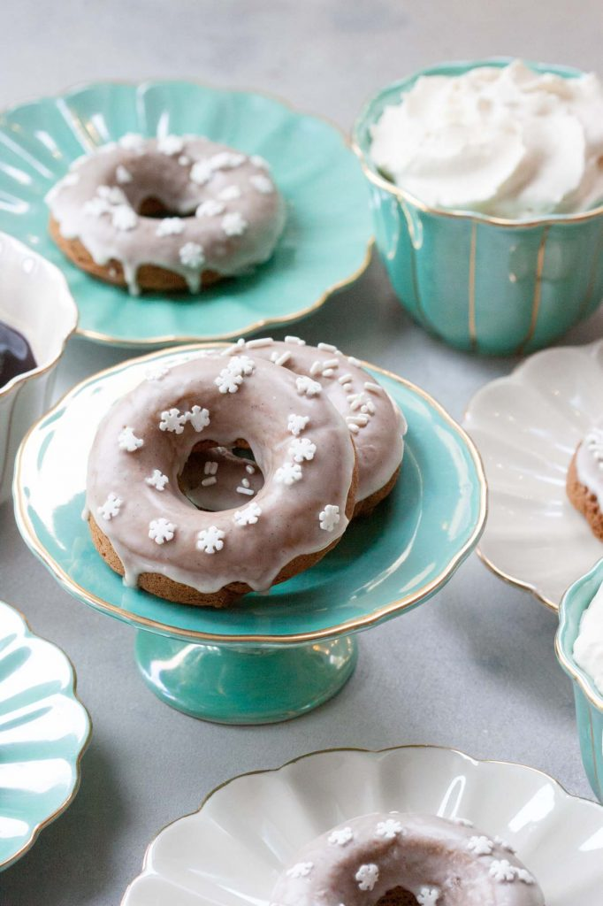 Gingerbread Donuts (vegan and gluten free friendly)