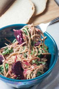 Balsamic Beet Pasta, A Whisk and Two Wands