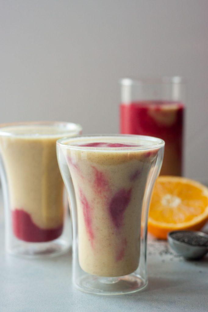 Tropical Berry Kombucha Smoothie