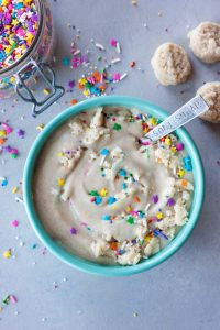 A Whisk and Two Wands Funfetti No Cake Protein Smoothie Bowl