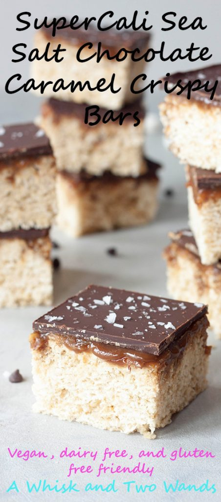 A Whisk and Two Wands, SuperCali Sea Salt Chocolate Caramel Crispy Bars