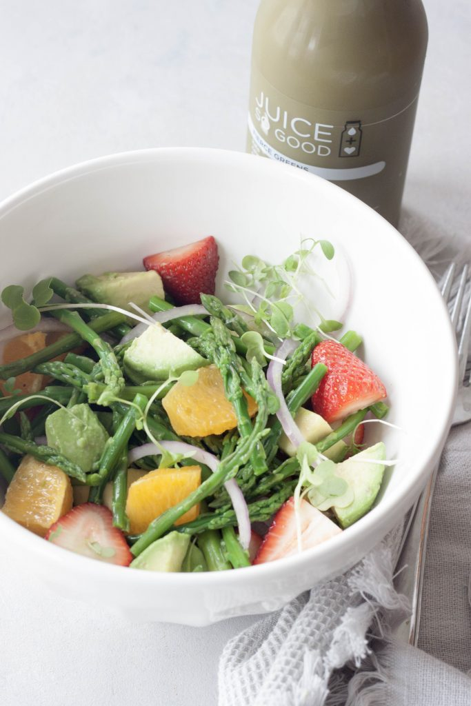 A Whisk and Two Wands, Citrus Avocado Asparagus Salad