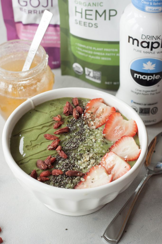 A Whisk and Two Wands, Energizing Matcha Smoothie Bowl