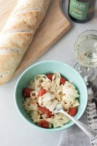 Vegan Smokin' Fettuccine with Roasted Tomatoes, A Whisk and Two Wands