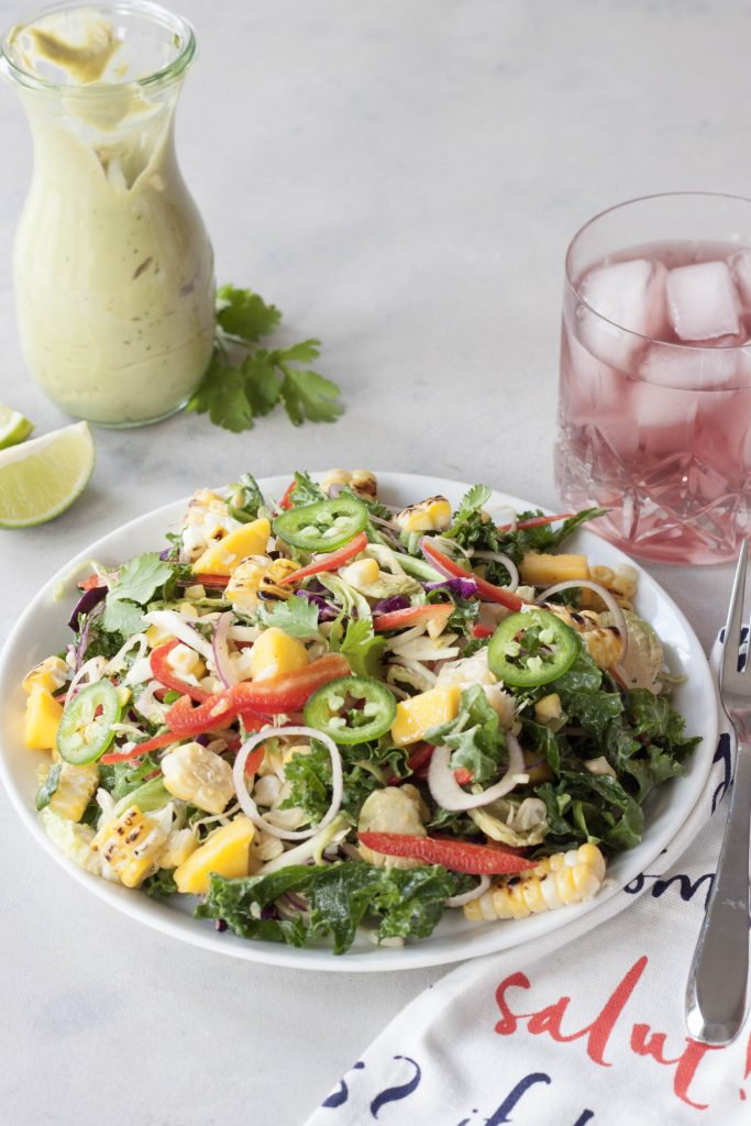 Sweet and Spicy Roasted Corn Summer Salad, A Whisk and Two Wands