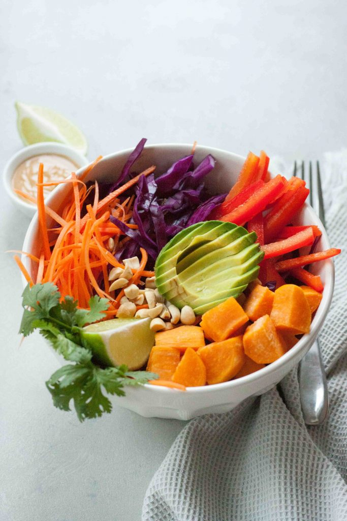 Sweet Potato Pad Thai Bowl