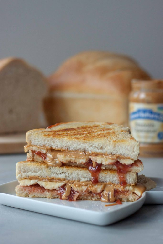 Grilled Peanut Butter Jelly Banana Sandwich