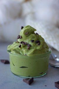 green smoothie, ice cream