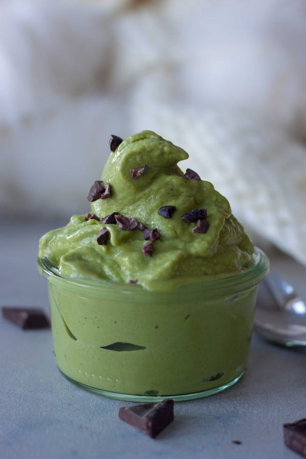 green smoothie, ice cream