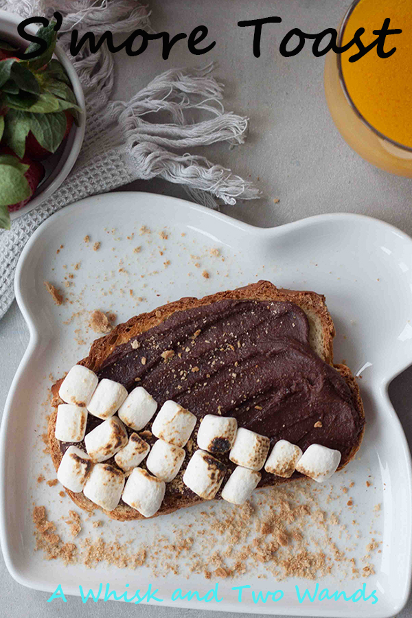 Gluten free S'more Toast is a quick and easy breakfast or snack that's a healthy treat! Made with either healthier chocolate hazelnut spread or chocolate hummus no reason you shouldn't have chocolate for breakfast!