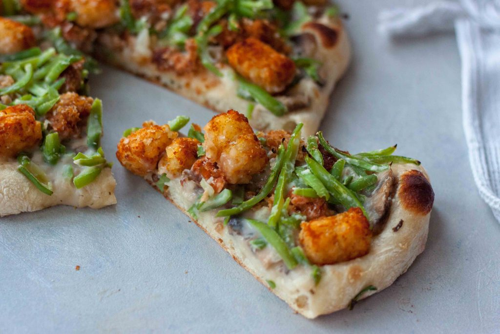 Tator Tot Hotdish Pizza