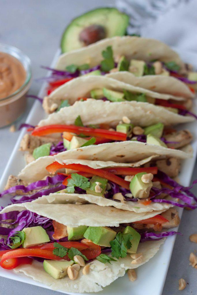 Vegan Thai Tacos, gluten free