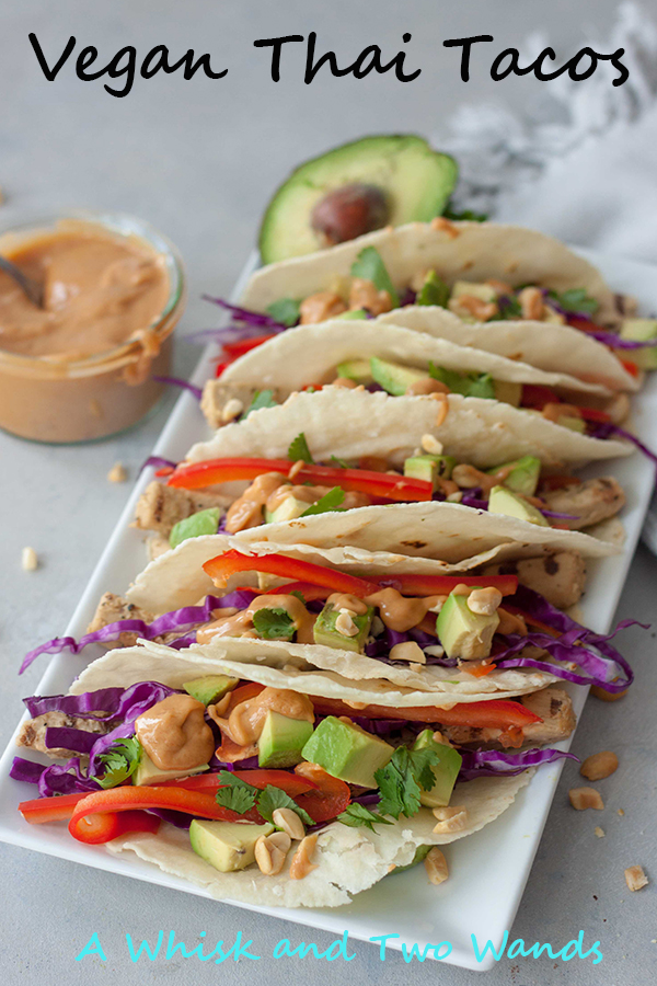 Vegan Thai Tacos with Thai Peanut Butter Sauce