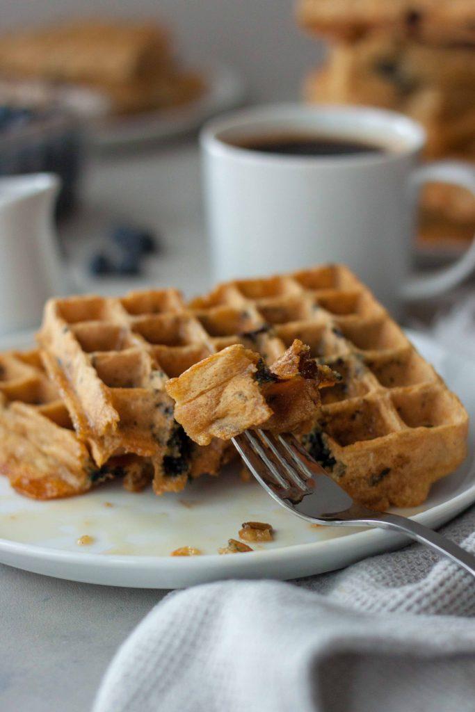 Blueberry Wild Rice Waffles