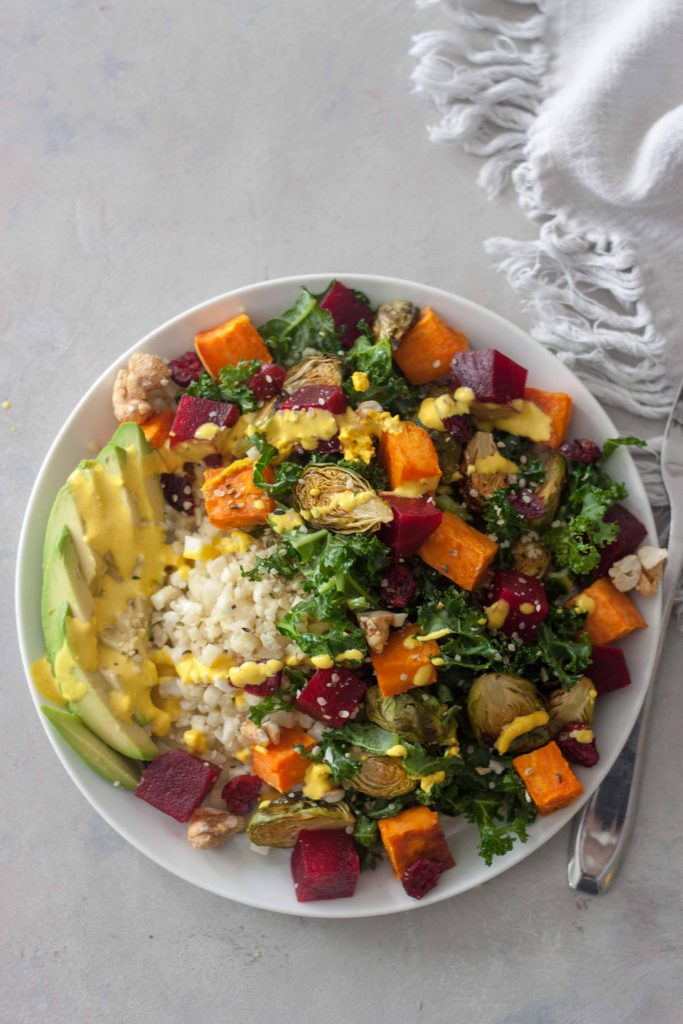 Can't Beet This Cauliflower Brusslin' Buddha Bowls