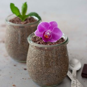 Chai Chocolate Chia Flower Pudding Pots
