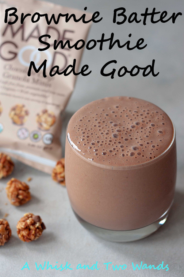 Brownie Batter Smoothie Bowl Made Good is a mom approved healthy breakfast made with chocolate that will make kids happy and is a great way to start any day! Back to school or even as an after school snack before sports this one has it all, protein, carbs, even a serving of veggies! Bonus it's allergen friendly!