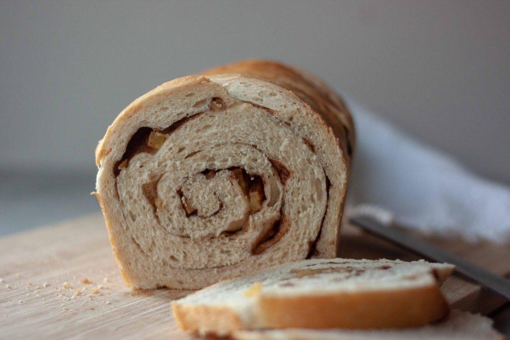 inside of Apple Cinnamon Swirl Sourdough Bread