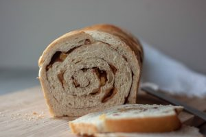 inside of Apple Cinnamon Swirl Sourdough Bread