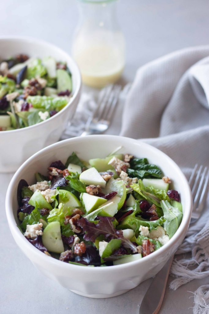 Apple Cranberry Maple Pecan Salads