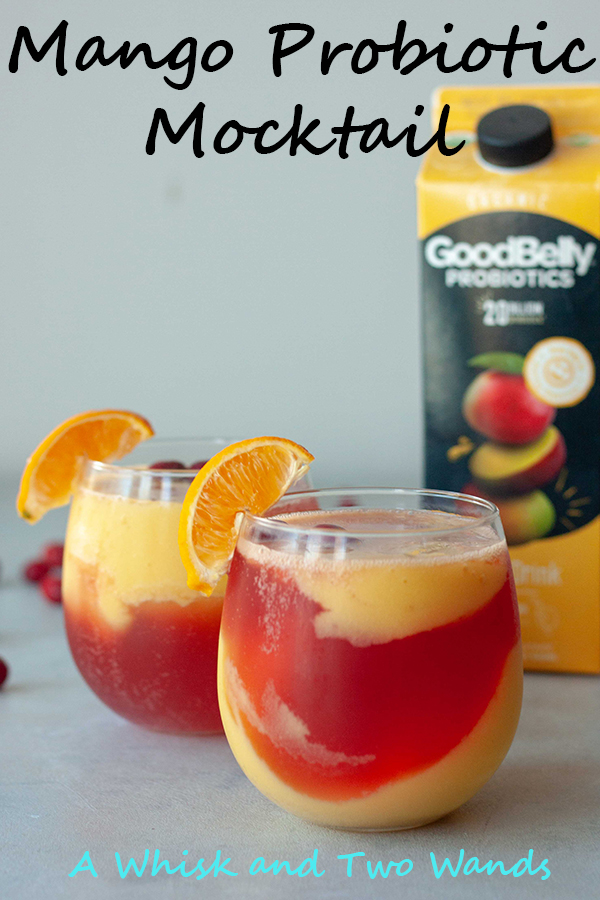 Refreshing, fruity, and healthy Mango Probiotic Mocktails are a delicious treat for any occasion. Packed with probiotics that make you smile and your tummy happy there is no wrong time of day to sit back and sip one! This one is a blend of mango and cranberry but there are mango ginger and countless other flavor combinations.
