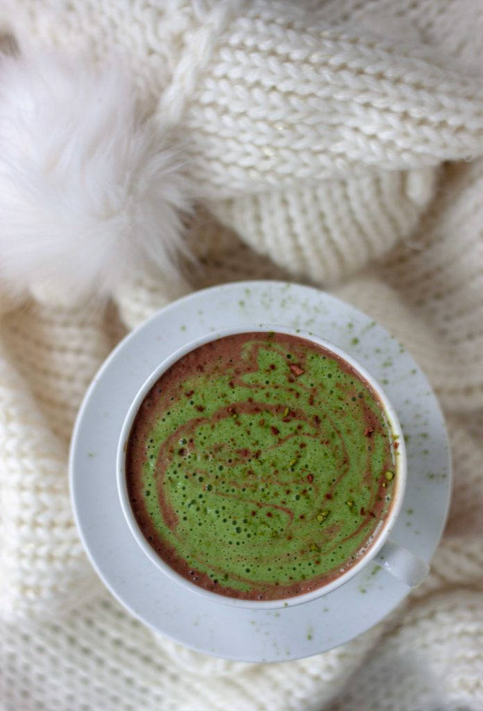 Matcha Mocha and blanket